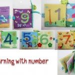 หนังสือผ้า Jollybaby รุ่น Learning with number
