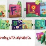 หนังสือผ้า Jollybaby รุ่น Learning with alphabets