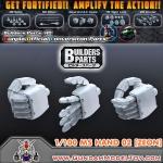 BUILDERS PARTS HD 1/100 MS HAND 02 [ZEON] มือแบบ HD สำหรับกันพลาขนาด 1:100