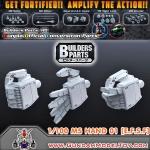 BUILDERS PARTS HD 1/100 MS HAND 01 [E.F.S.F] มือแบบ HD สำหรับกันพลาขนาด 1:100
