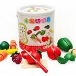 ชุดผัก ผลไม้ผ่าซีก (ของเล่นไม้)