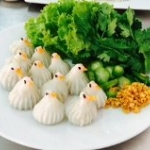 ขนมจีบนก (Steamed dumpling in bird - Shaped)