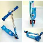 สกู๊ตเตอร์แบบ 3 ล้อ สำหรับเด็ก สีสวยมาก เล่นง่าย ปรับความสูงได้ (สีน้ำเงิน)