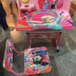 โต๊ะเขียนหนังสือเด็ก-ลายเอลซ่า-สีชมพู