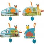 หนังสือผ้า 3 มิติ หนังสือผ้า Skip Hop Giraffe Safari Puppet Activity Book