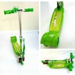 สกู๊ตเตอร์แบบ 3 ล้อ สำหรับเด็ก สีสวยมาก เล่นง่าย ปรับความสูงได้ (สีเขียว)