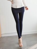พร้อมส่ง เลกกิ้งกางเกงกระโปรงเกาหลีสีน้ำเงิน ผ้ายืดหยุ่นดีมาก