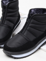 รองเท้าบู๊ท Black Duck Padded ทรงสูง พื้นรองเท้าแบบกันลื่น ดีไซน์ซิป ด้านในผ้ากำมะหยี่ใส่ได้ทั้งชาย-หญิง