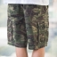Green Camo Cargo Shorts for Men - size 32 thumbnail 2