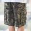 Green Camo Cargo Shorts for Men - size 38 thumbnail 4