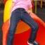 เสื้อยืดเด็ก สีชมพูอ่อน คอกลม แขนสั้น Size S สำเนา thumbnail 1