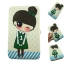 กระเป๋าใส่มือถือ (ขนาด XL 10x19ซม.) ลายเด็กหญิง เสื้อเขียว น่ารักมากๆ thumbnail 1