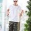 Green Camo Cargo Shorts for Men - size 38 thumbnail 1