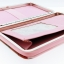กระเป๋าใส่มือถือ iPad Tablet สีชมพู-ฟ้า ลายเด็กหญิงชุดส้ม พื้นหลังสีเทา ด้านในสีชมพู thumbnail 3