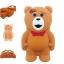 เคส iPhone 6/6s ซิลิโคนแท้ หมีสีน้ำตาล 3D thumbnail 1