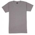เสื้อยืดคอวีเรียบ Pv07 สีเทาม่วงฟอก