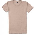 เสื้อยืดคอกลมเรียบ Po11 สีเนื้อ