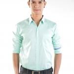 เสื้อเชิ้ตผู้ชายสีเขียวมินท์ S-022