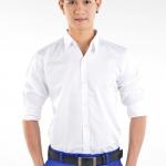 เสื้อเชิ้ตผู้ชายสีขาว S-018