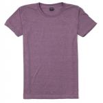 เสื้อยืดคอกลมเรียบ Po17 สีม่วงฟอก