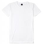 เสื้อยืดคอกลมเรียบ Po19 สีขาว
