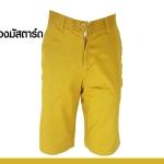 กางเกงสามส่วน รุ่น302 (สีเหลืองมัสตาร์ด)