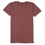เสื้อยืดคอกลมเรียบ Po18 สีแดงฟอก