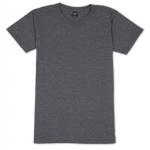 เสื้อยืดคอกลมเรียบ Po05 สีเทาดำฟอก