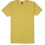 เสื้อยืดคอกลมเรียบ Po13 สีเหลืองมัสตาร์ด