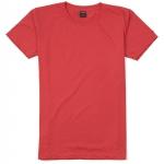 เสื้อยืดคอกลมเรียบ Po10 สีส้มโอรส