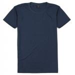 เสื้อยืดคอกลมเรียบ Po16 สีกรมท่า