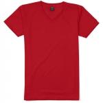 เสื้อยืดคอวีเรียบ Pv12 สีแดง