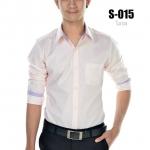 เสื้อเชิ้ตผู้ชายสีโอรส S-015