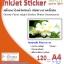 สติ๊กเกอร์อิงค์เจ็ทกันน้ำ ชนิดกระดาษ Paper Sticker Inkjet (Water Resistance) thumbnail 2
