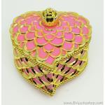 กล่องเก็บเครื่องประดับ หัวใจ ยาว 5 นิ้ว - สีชมพู/ทอง [HE18005-Pi.G]