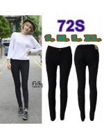 กางเกงยีนส์เอวต่ำ ขายาว ผ้ายืด แบบซิบ สีดำ ใส่สวย ใส่กระชับช่วยเก็บทรงสวย มี SIZE S,M,L,XL,34