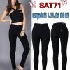 กางเกงยีนส์แฟชั่นเอวสูงขาเดฟสไตล์เกาหลี สีดำ มี SIZE S,M,L,XL 34 36 38 40