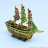 เรือใบ โลหะ ประดับด้วยเพชรคริสตัล [704] ลำเล็ก