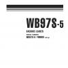 หนังสือ คู่มือซ่อม วงจรไฟฟ้า วงจรไฮดรอลิก จักรกลหนัก BACKHOE LOADER WB97S-5 F00003