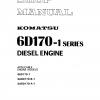 หนังสือ คู่มือซ่อม โอเวอร์ฮอล จักรกลหนัก DIESEL ENGINE S6D170-1, SA6D170-B-1, SA6D170-A-1 (ทั้งคัน) EN