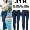 กางเกงยีนส์ขาเดฟเอวต่ำ ยีนส์ยืดเนื้อดี ซิป สีเมจิก ฟอกขาว ใส่กระชับ มี SIZE L,XL