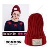 หมวกบีนนี่ หมวก Beanie hat ลาย Rock สีแดง