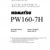 หนังสือ คู่มือซ่อม โอเวอร์ฮอล วงจรไฟฟ้า วงจรไฮดรอลิก จักรกลหนัก PW160-7H 00 H50051 (ทั้งคัน) EN