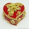 กล่องเก็บเครื่องประดับ หัวใจ ยาว 4 นิ้ว - สีแดง/ทอง [HE18011-Red.G]