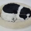 ตุ๊กตาหมา นอนหลับ หายใจได้ (ใส่ถ่าน) สีขาวดำ