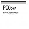 หนังสือ พาสนัมเบอร์อะไหล่ ( Parts Book ) จักรกลหนัก Komatsu HYDRAULIC EXCAVATOR PC05-6F F10001 (ทั้งคัน) EN