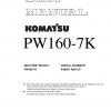 หนังสือ คู่มือซ่อม โอเวอร์ฮอล วงจรไฟฟ้า วงจรไฮดรอลิก จักรกลหนัก PW160-7K K40001 (ทั้งคัน) EN
