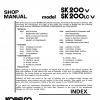 หนังสือ คู่มือซ่อม Kobelco Hydraulic Excavator SK200-V , SK200LC-V (ข้อมูลทั่วไป ค่าสเปคต่างๆ วงจรไฟฟ้า วงจรไฮดรอลิกส์)