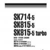 หนังสือ คู่มือซ่อม วงจรไฟฟ้า วงจรไฮดรอลิก จักรกลหนัก SK715 37AF00004 , SK815-5 37BF00006 , SK815-5turbo 37BTF00003 (ทั้งคัน) EN