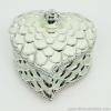 กล่องเก็บเครื่องประดับ หัวใจ ยาว 5 นิ้ว - สีขาว/เงิน [HE18005-W.Silver]